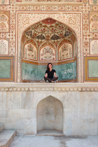 Melanie DiSalvo at the Amer Fort Jaipur