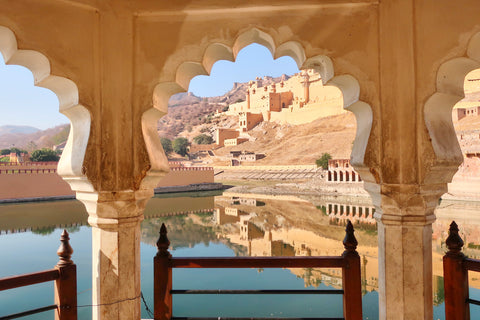 entrance to the Amer Fort Jaipur, photo taken by Melanie DiSalvo