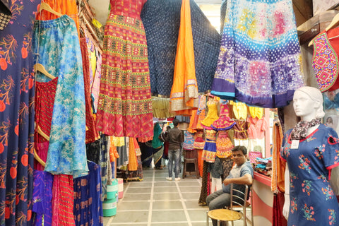 clothing at jaipur shopping markets