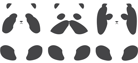 pandas see no evil speak no evil hear no evil