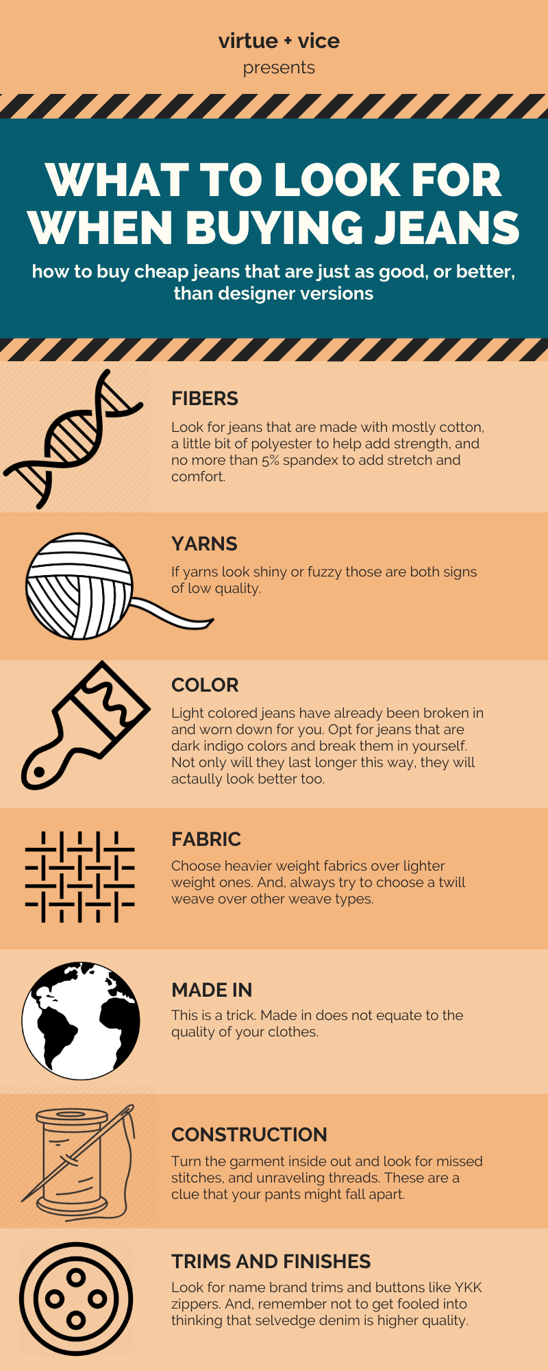 how to buy cheap jeans infographic