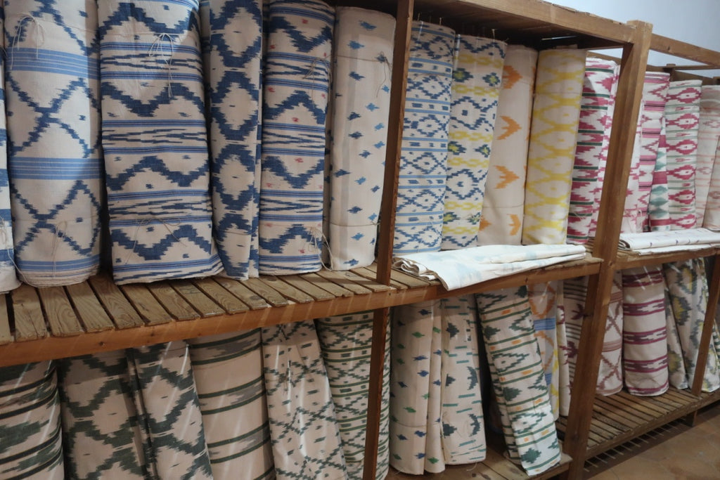 finished ikat fabrics for sale