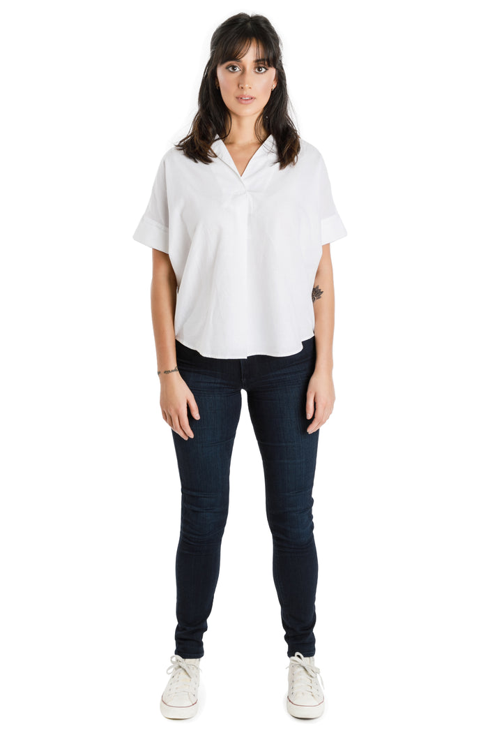 vegan banana silk reverse button down - Virtue + Vice