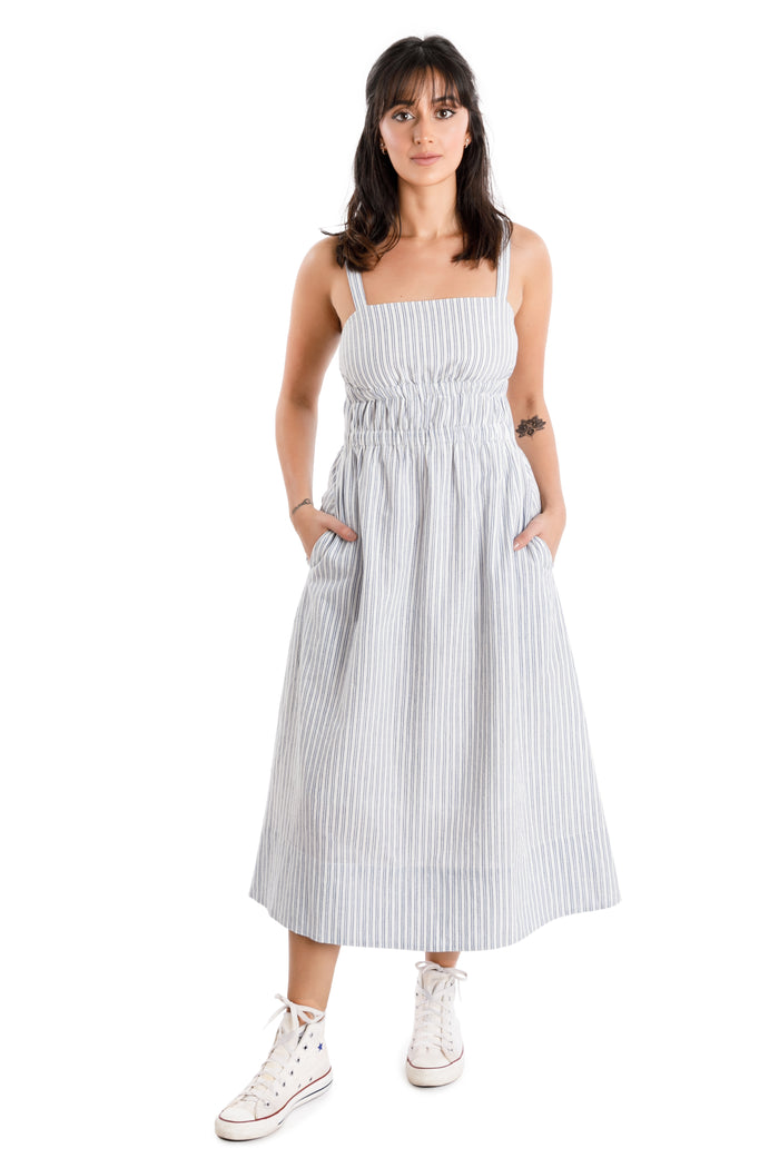 oxford maxi dress