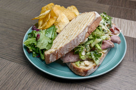Coffee Rubbed Roast Beef Sandwich
