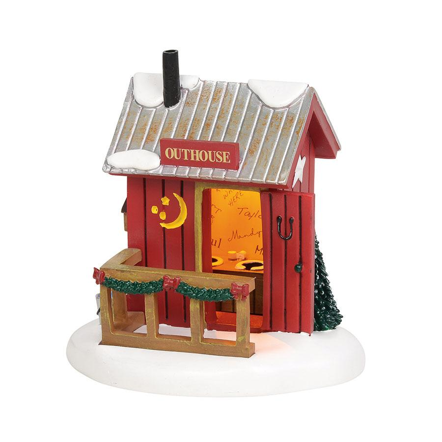 Lit village outhouse department 56