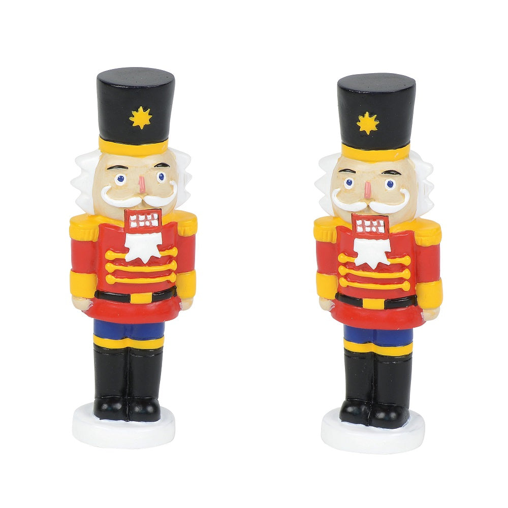 Lit nutcracker Yard decor d56