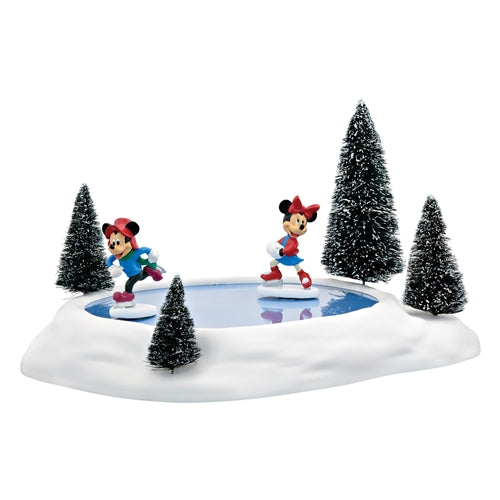 Mickey Mouse and Minnie Mouse Animated skating pond d56