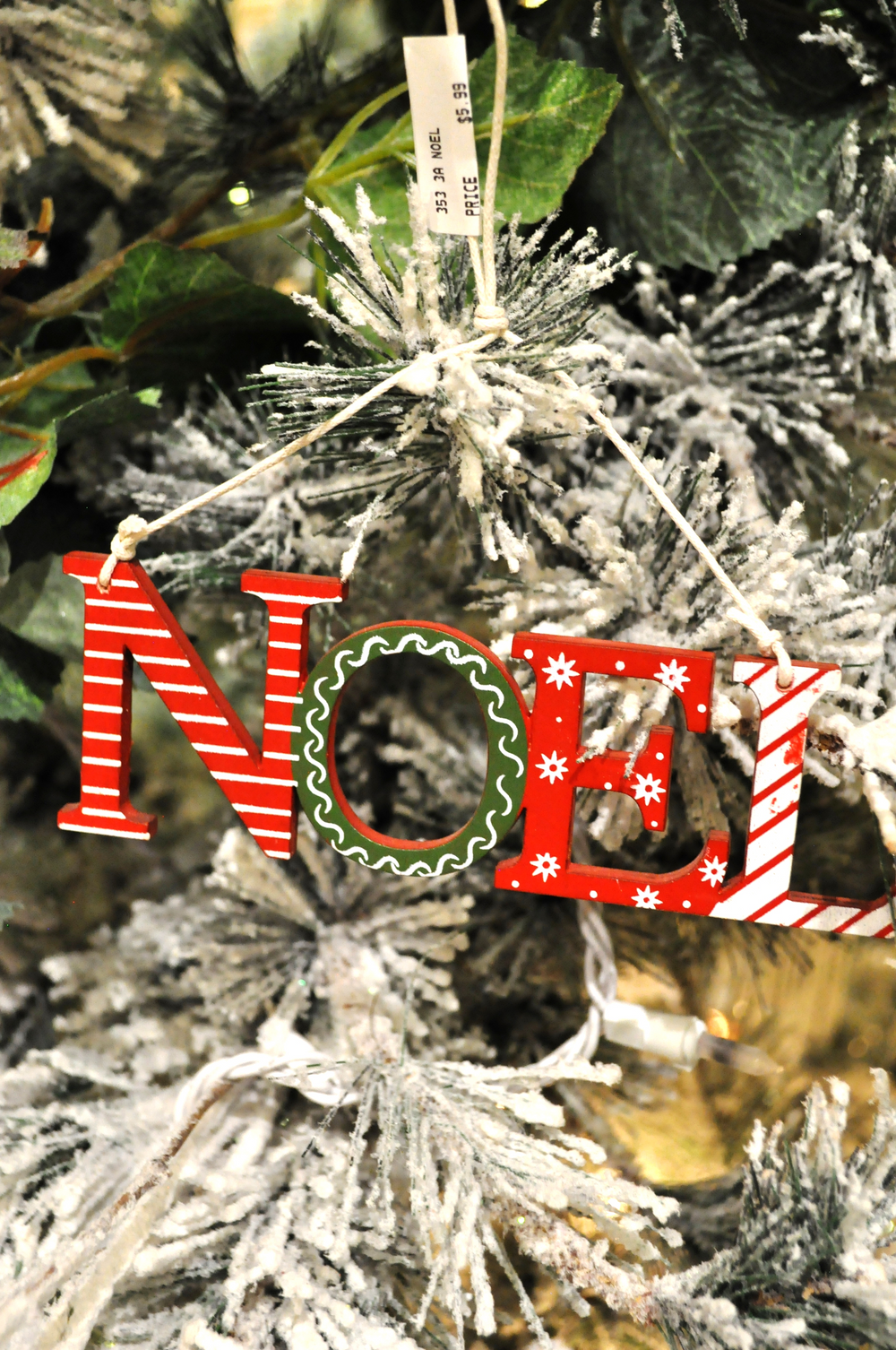 Noel Sign Ornaments