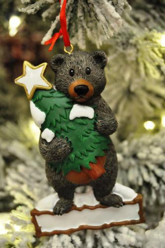 Black Bear W/ Xmas Tree