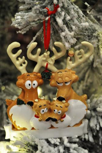 Reindeer Family of 4