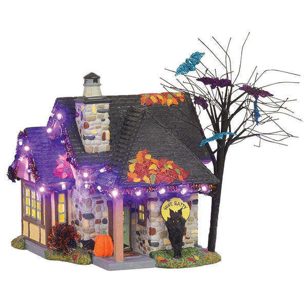 The bat house Halloween village