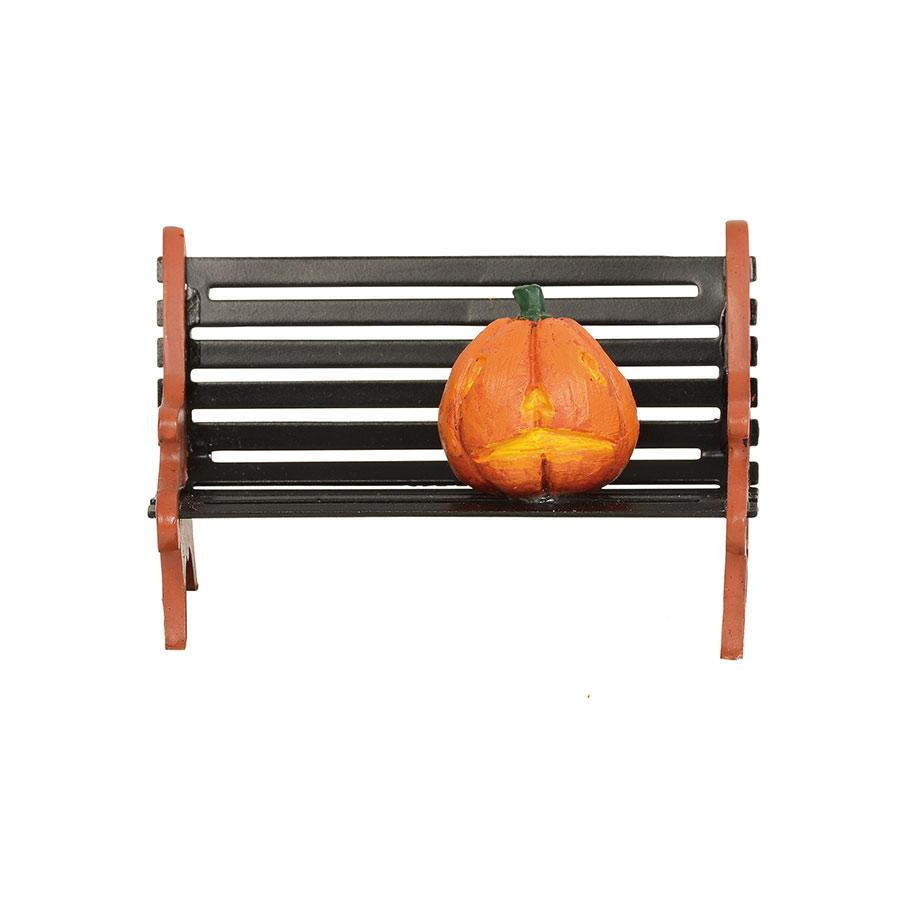 Haunted pumpkin bench department 56