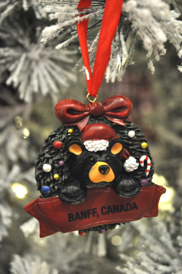 Bear in Wreath Ornament