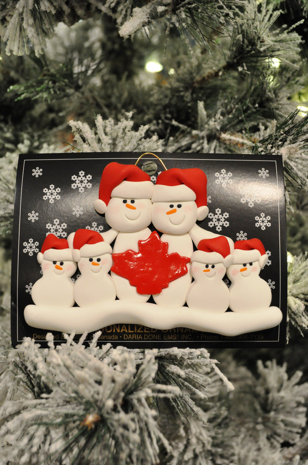 family of 6 ornament