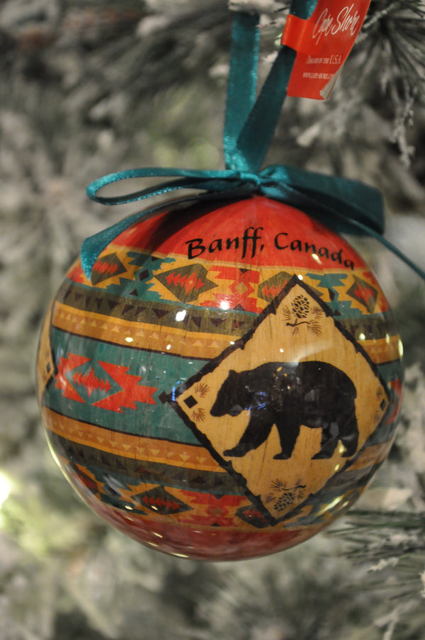 rustic bear ornament