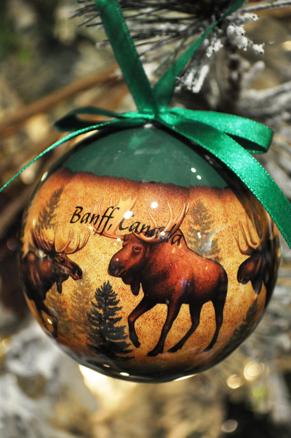 Moose Collage Ornament