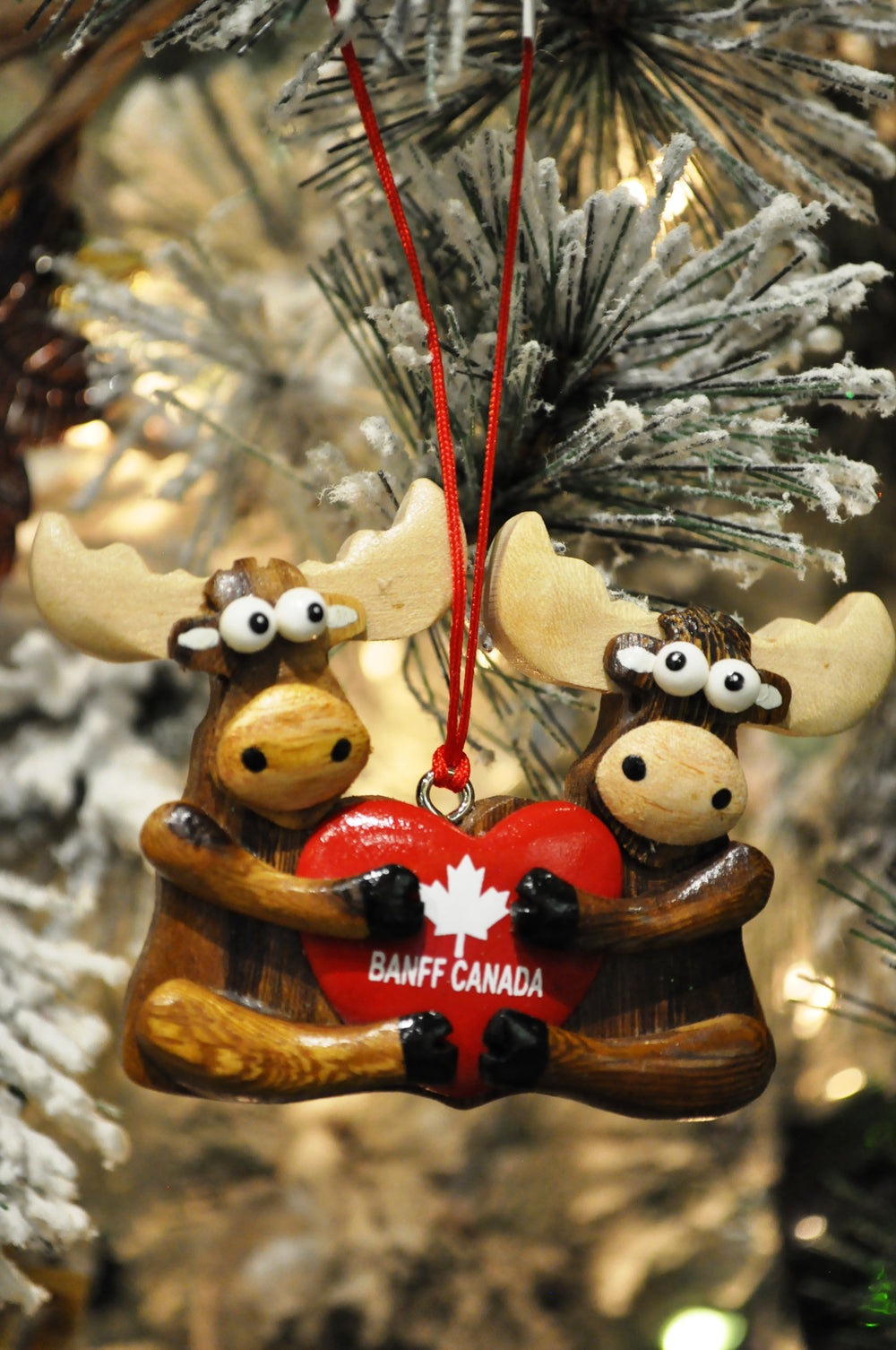 Moose Holding Heart Ornament