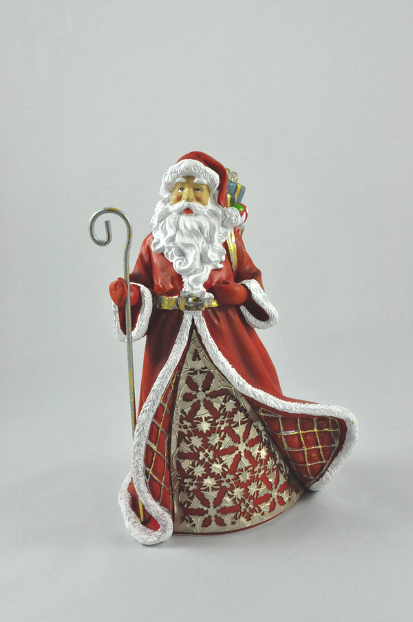 Red & Gold St. Nick (Staff)