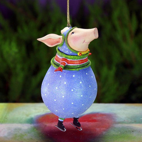 Fred The Pig Ornament