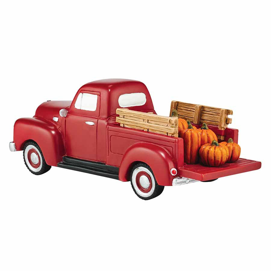 Harvest fields pickup truck