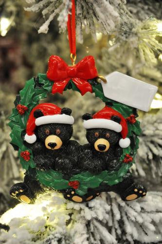 Black Bears In Wreath