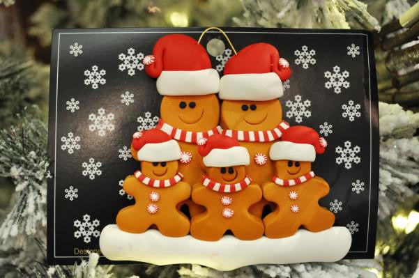 Gingerbread Family of 5