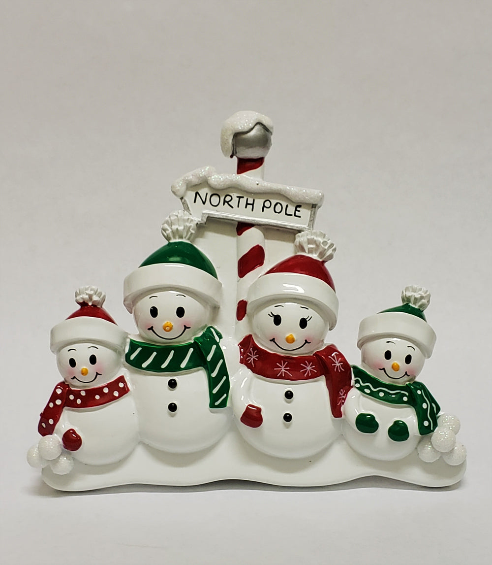 North Pole Family of 4 - Table Piece