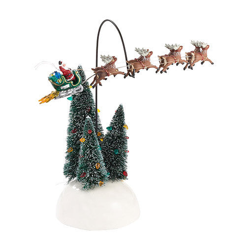 Animated flaming sleigh department 56