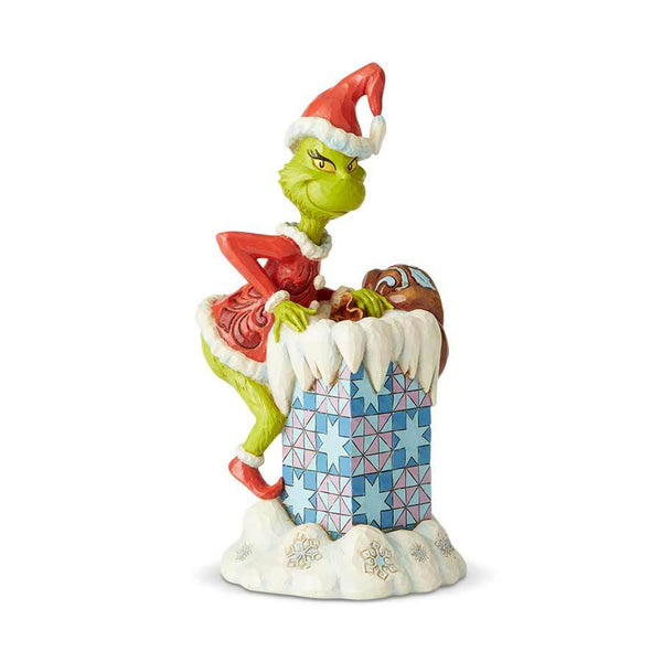 grinch in chimney jim shore