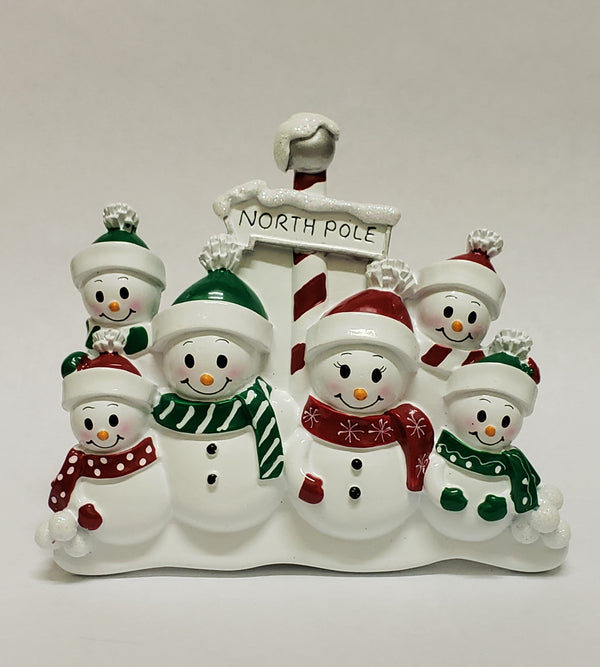North Pole Family of 6 - Table Piece