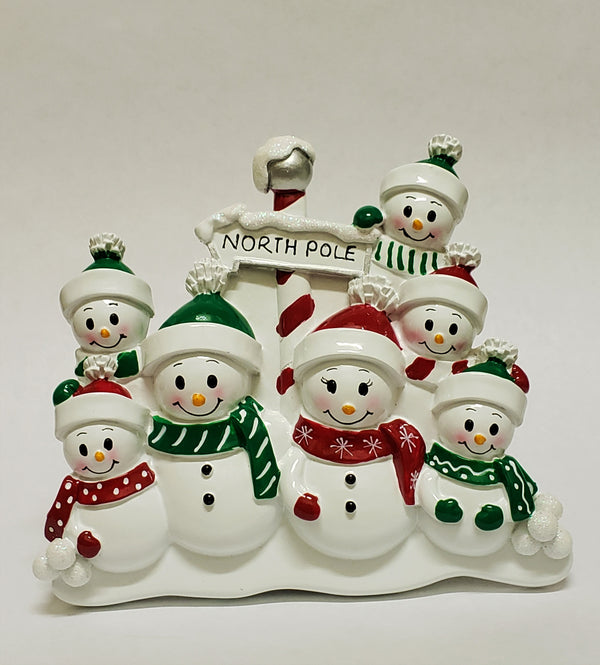 North Pole Family of 7 - Table Piece