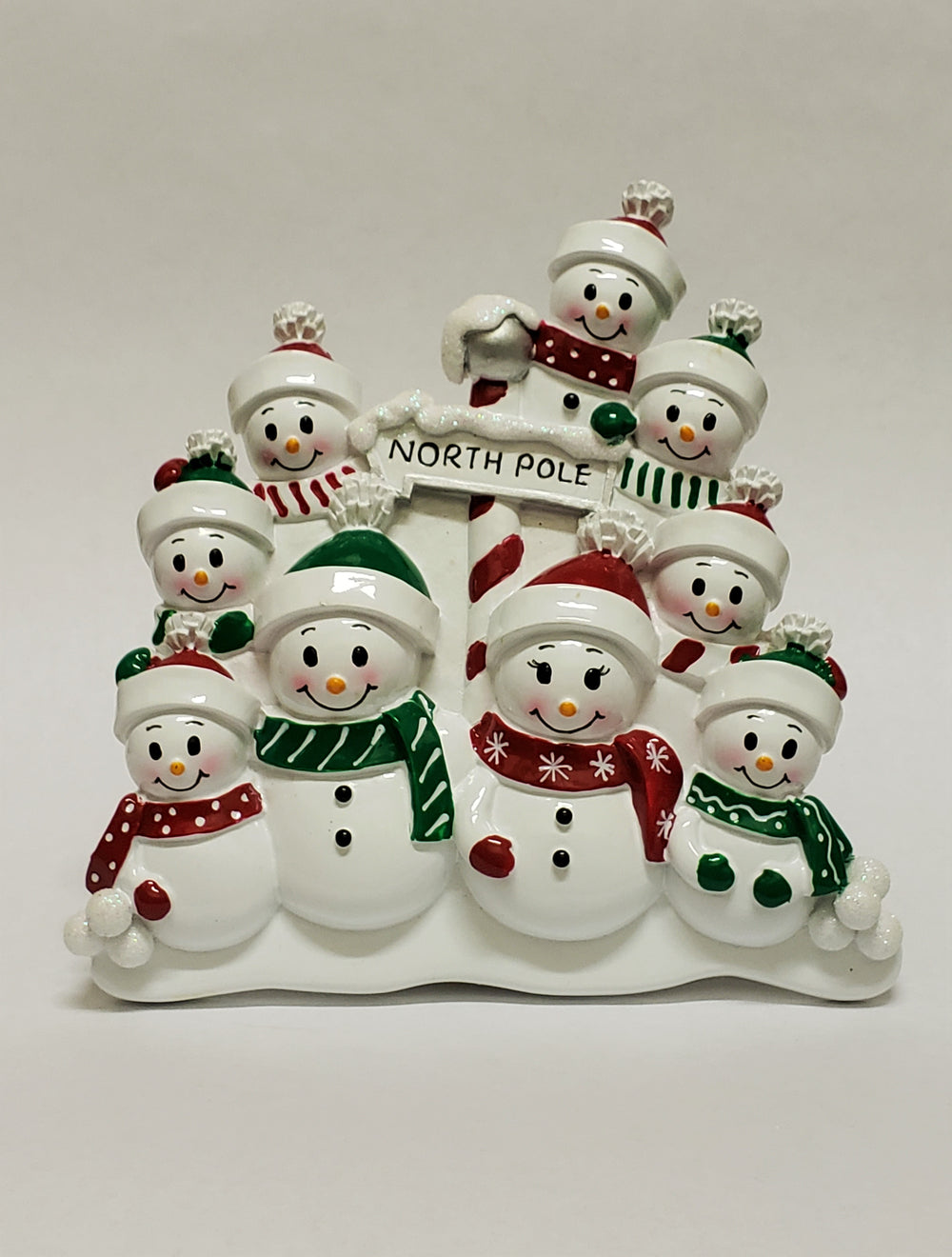 North Pole Family of 9 - Table Piece