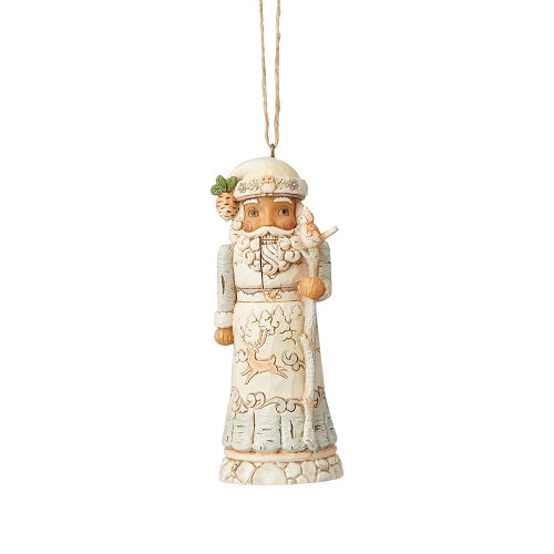 White Woodland Nutcracker Ornament
