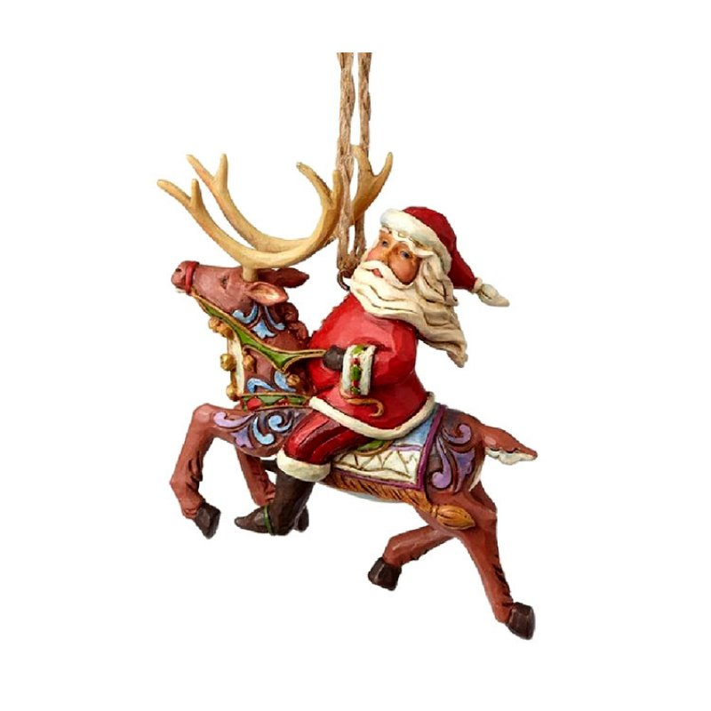 santa riding reindeer jim shore