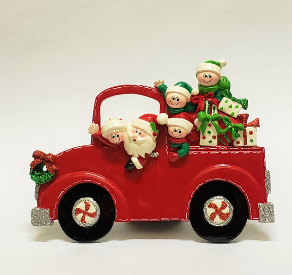 Santa Truck Family of 5 Table Piece