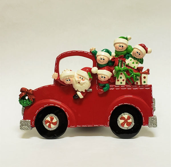 Santa Truck Family of 6 Table Piece