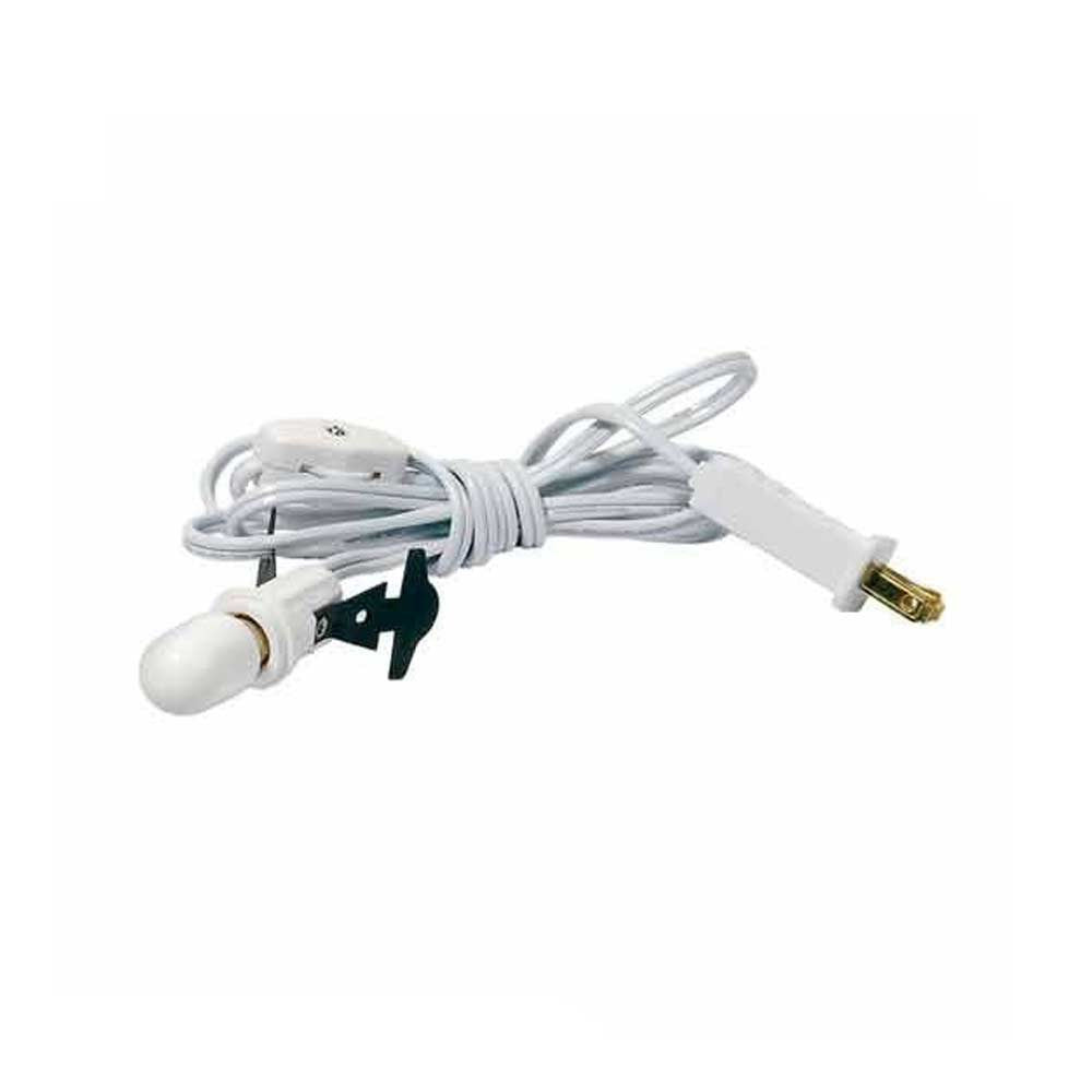 Village Single Cord With Bulb, White