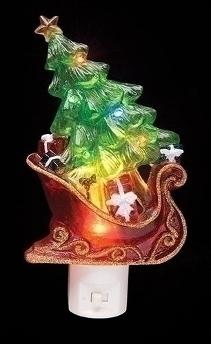 sleigh with tree night light