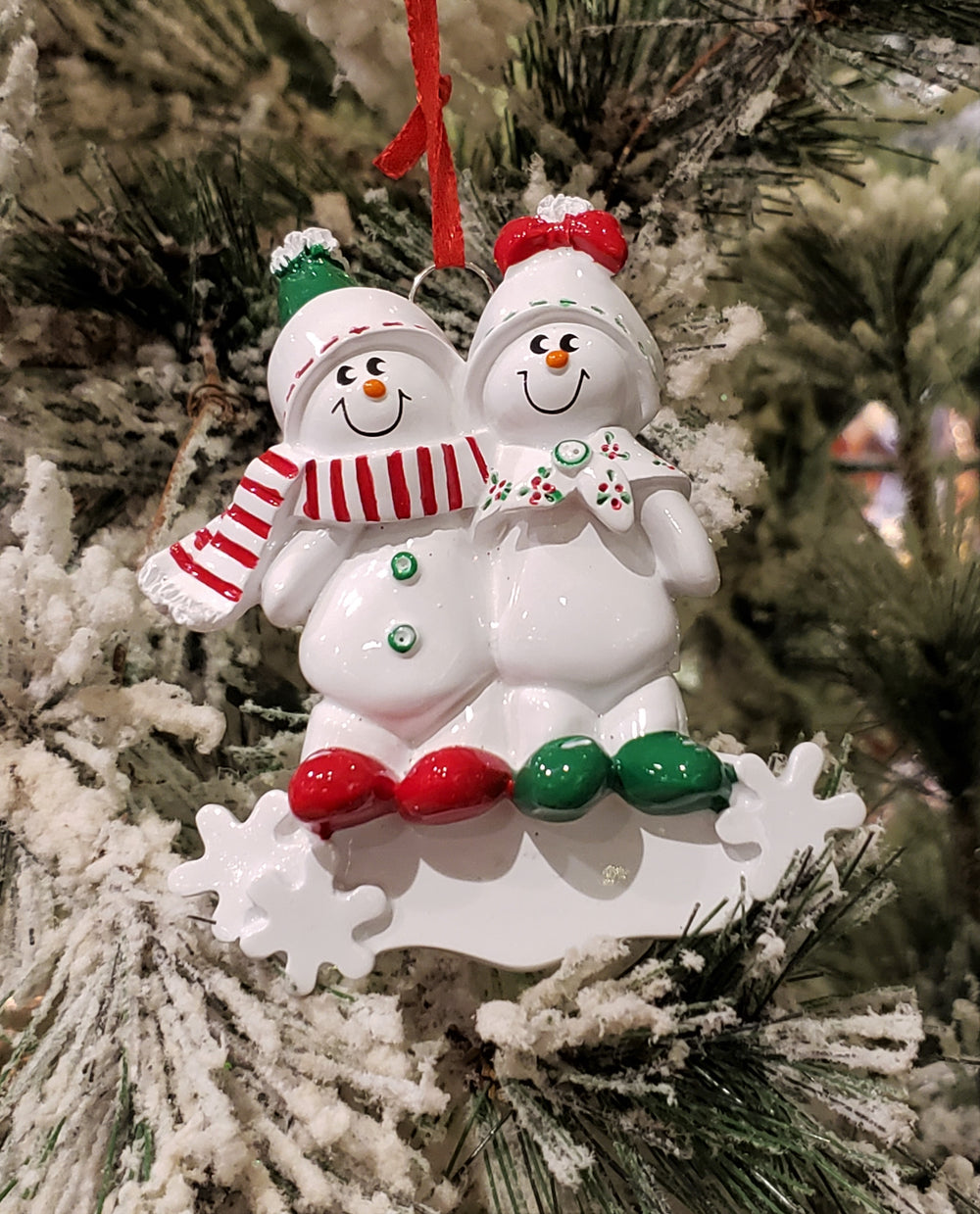 Snowman Family of 2 Ornament