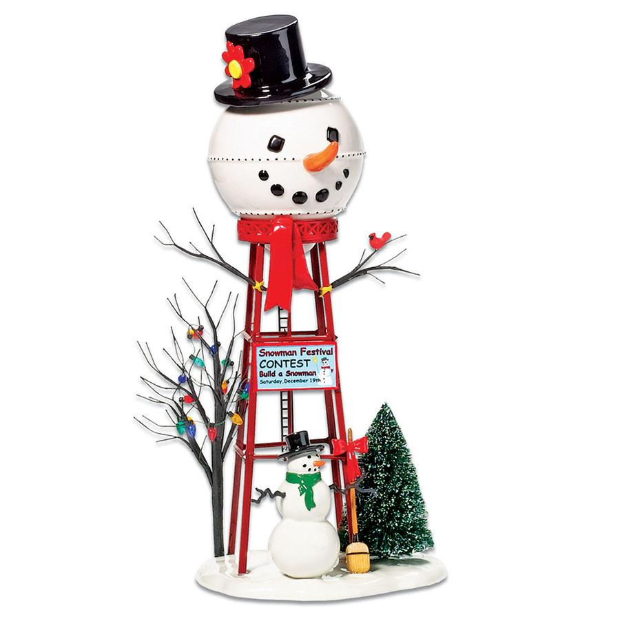 snowman water tower department 56