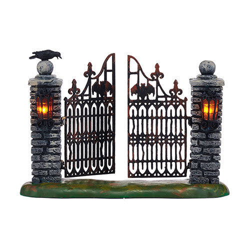 Spooky Wrought Iron Gate