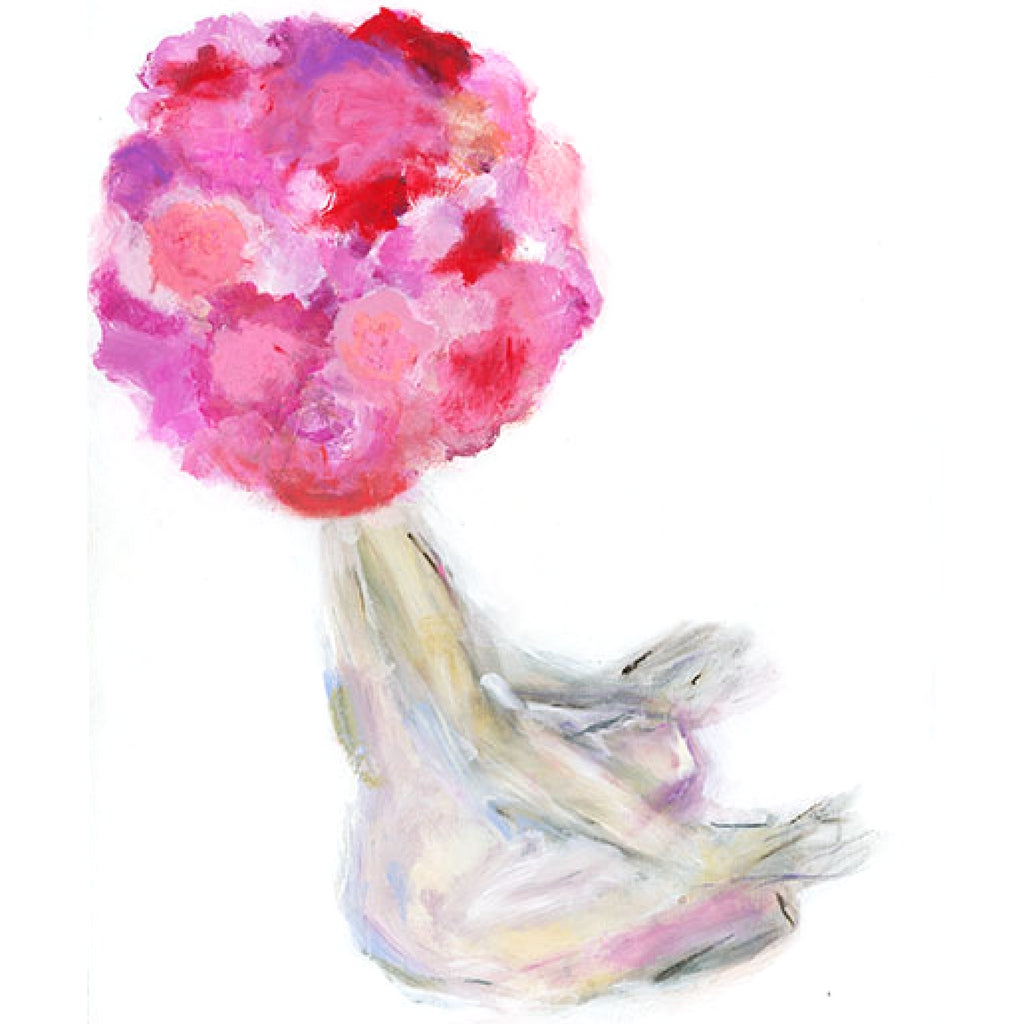 Meditating Flower Head Original Painting