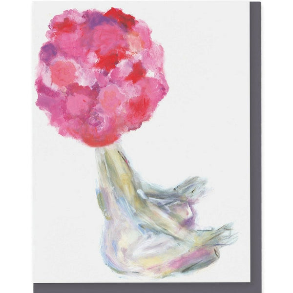 Meditating Flowerhead 1 Card