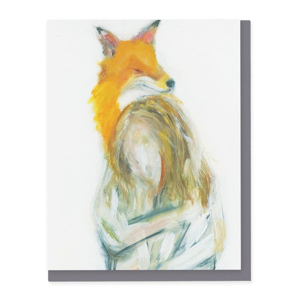 Fox and Woman Card