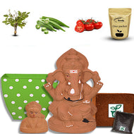 12 Inch Sasya Ganapathi Kit with Gowri