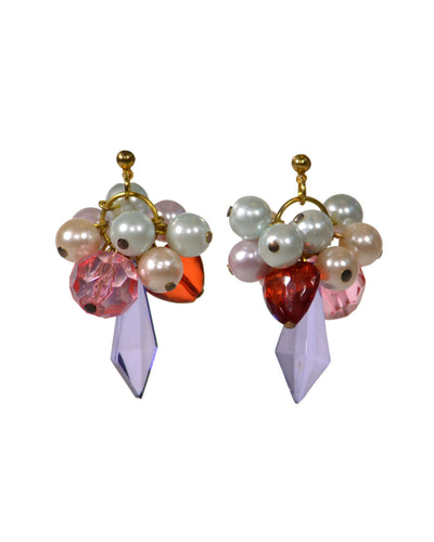 BEADED CLUSTER EARRING