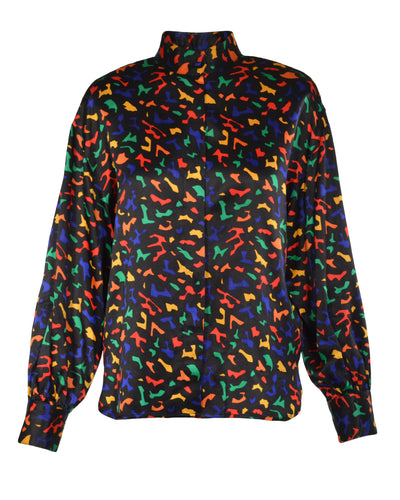 PRIMARY PRINT BLOUSE - WOMEN'S SIZE S/M