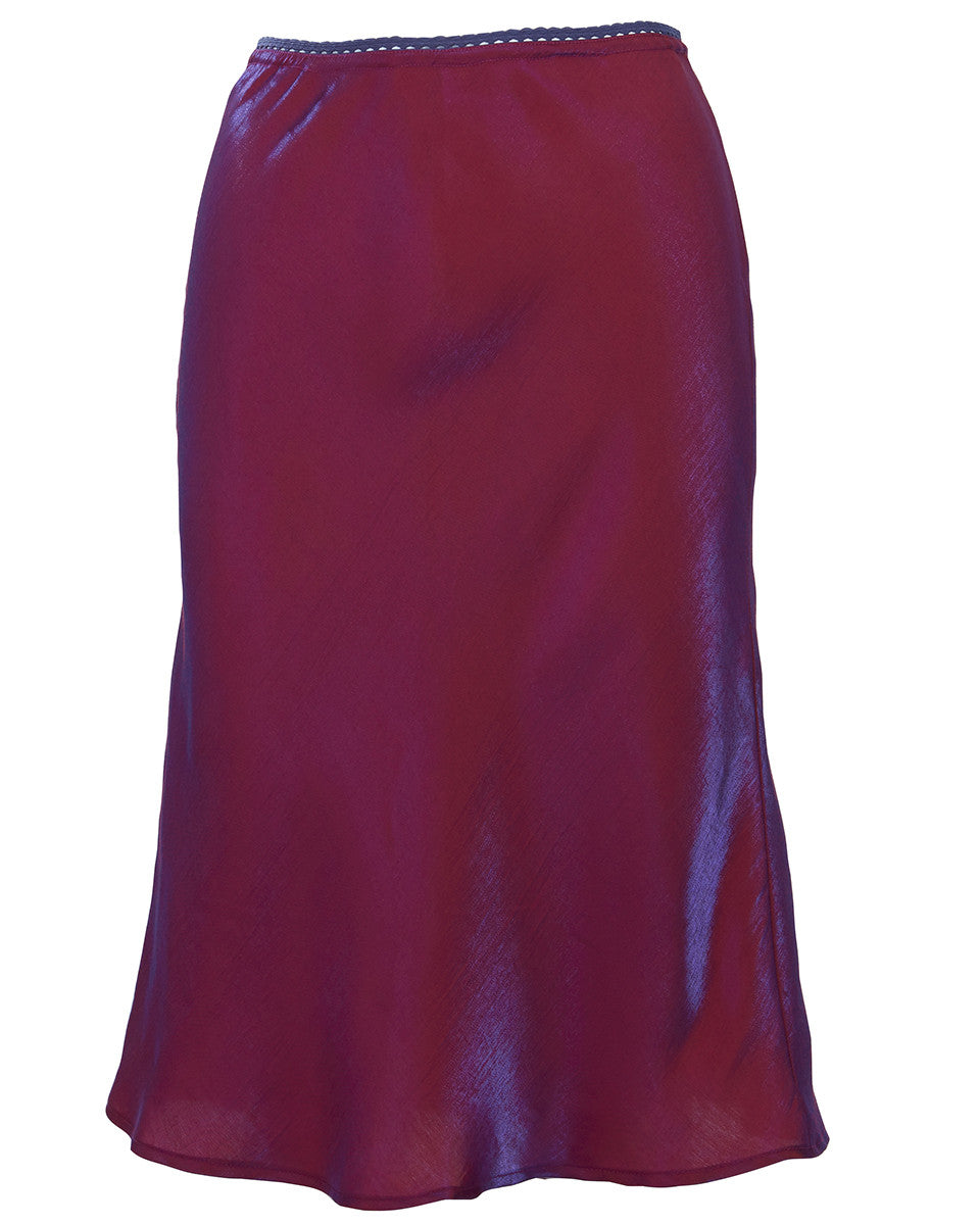 IRIDESCENT MIDI SKIRT - WOMEN'S SIZE S
