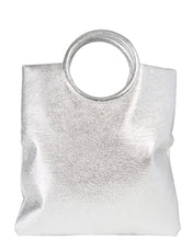 METALLIC FOLD OVER BAG